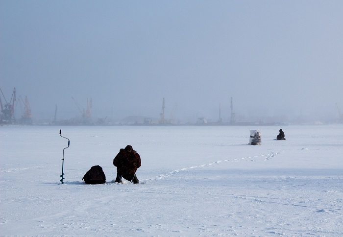 Finding an Ice Fishing Spot