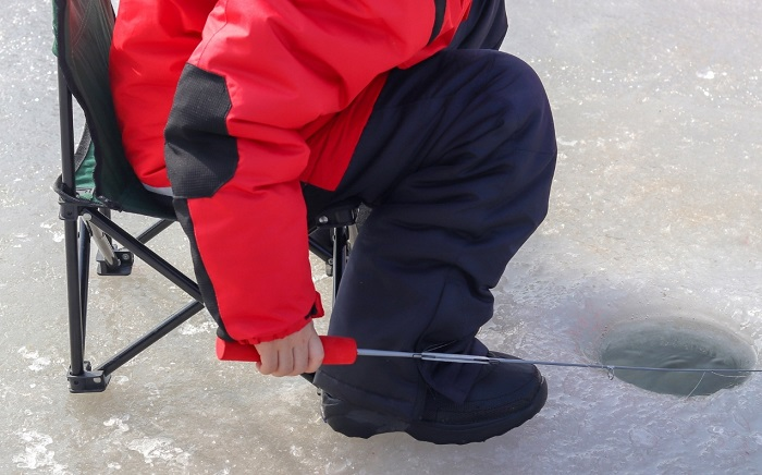 Trout ice fishing