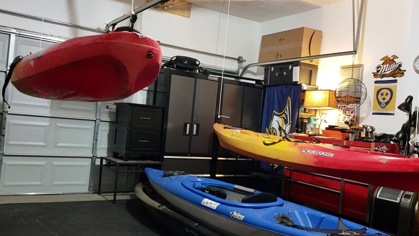 how to store a kayak in an apartment