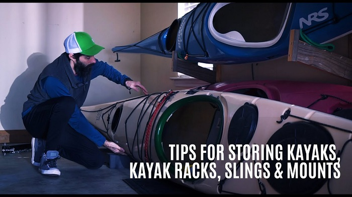 store a kayak on its side