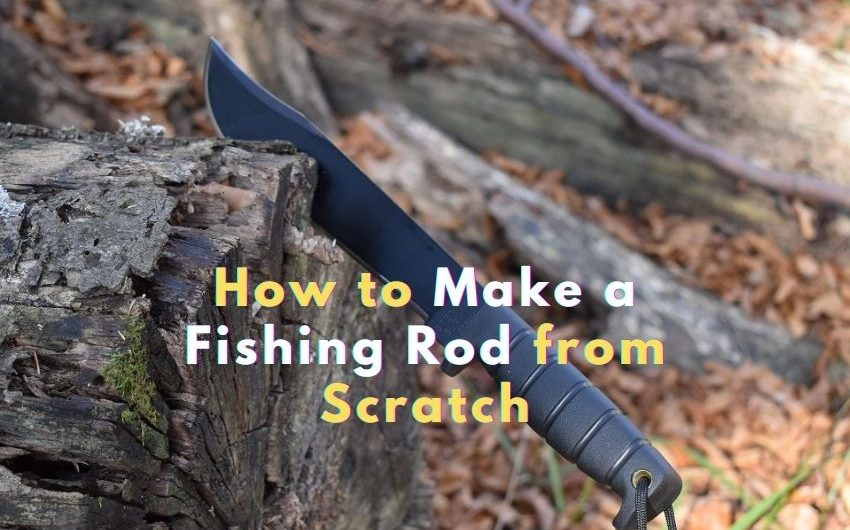 how to make a fishing rod in the wild 1